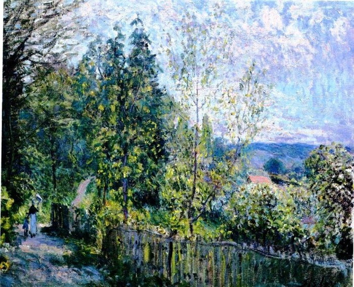 4 Alfred Sisley - The Road in the Woods, 1879, National Gallery of Art, Washingon DC (700x569, 572Kb)