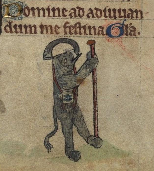 Как средневековые художники представляли слонов