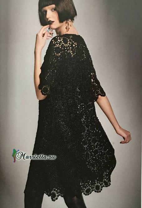Очень красивое черное платье крючком (3) (456x667, 173Kb)