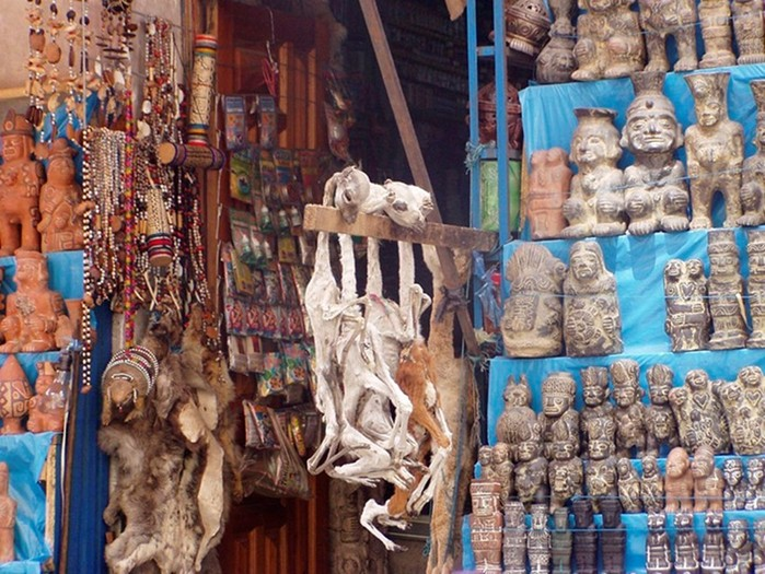 Mercado de las Brujas— Ведьмовский рынок в столице Боливии