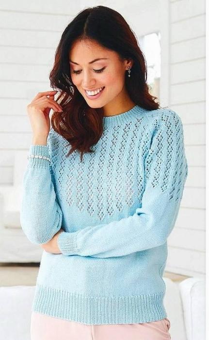 Джемпер из журнала «Knitting & Crochet» 2018