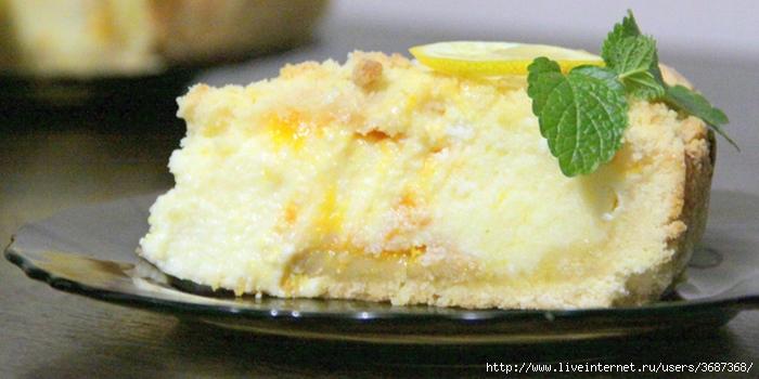 Насыпной творожный пирог с лимоном (700x350, 194Kb)