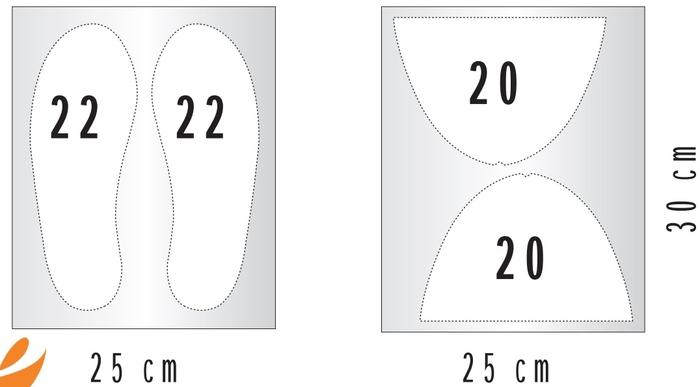 Тапочки своими руками с размерами