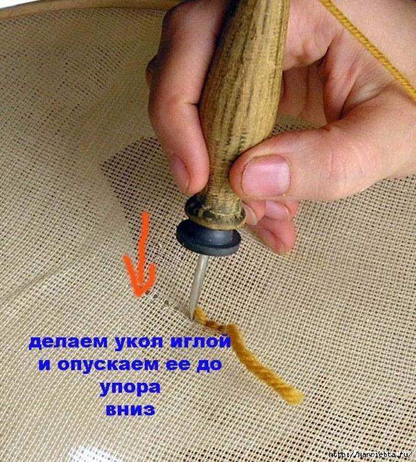 Вышивка ковровой техникой с помощью специальной иглы (11) (600x666, 349Kb)
