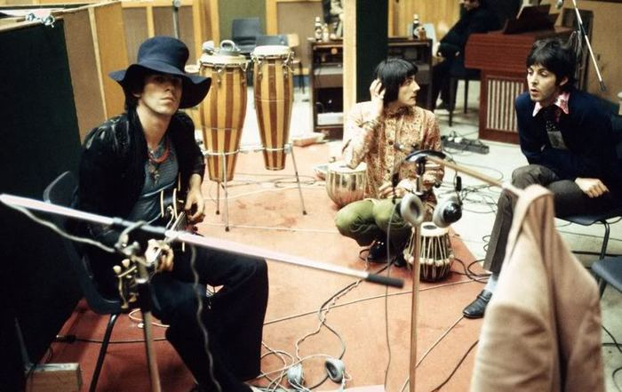 Keith Richards, Glyn Johns and Paul McCartney
