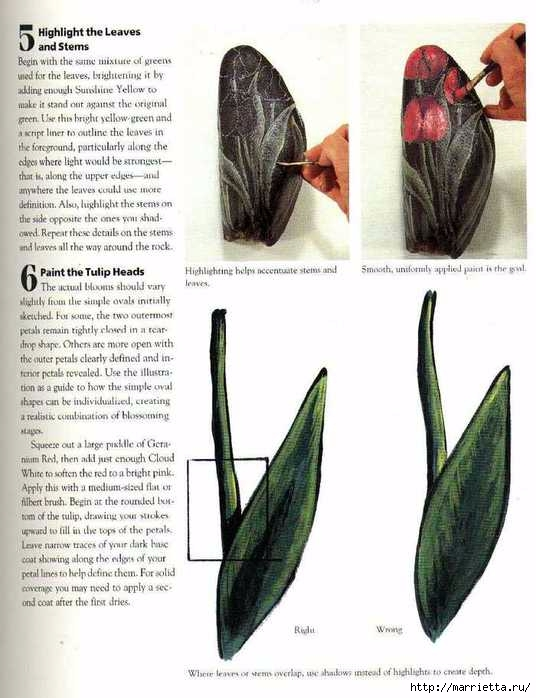 Тюльпаны на камне. Техника росписи (6) (536x698, 172Kb)