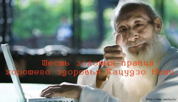 """alt=""""Шесть золотых правил хорошего здоровья Кацудзо Ниши.""""/2835299__3_ (700x403, 187Kb)"""