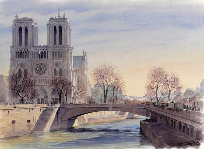2.  Взгляд на Париж (700x512, 422Kb)