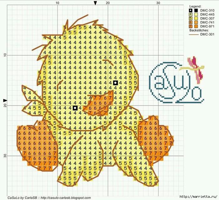 Малыши утята. Детская вышивка крестом (7) (700x639, 413Kb)