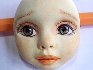 Тедди-долл из пластика. Роспись лица куклы (1) (300x225, 63Kb)