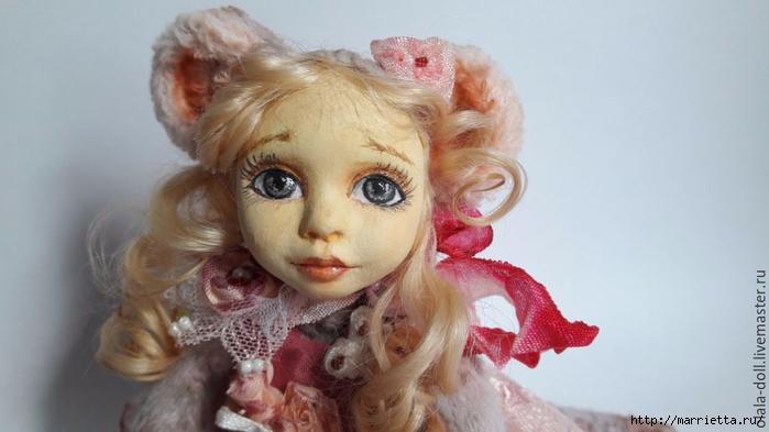 Тедди-долл из пластика. Роспись лица куклы (1) (700x393, 155Kb)