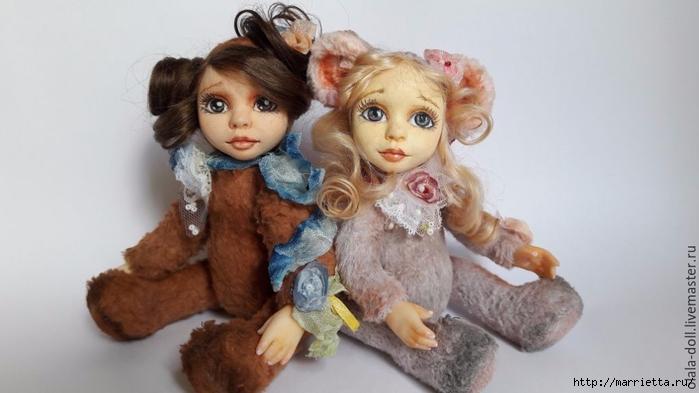 Тедди-долл из пластика. Роспись лица куклы (3) (700x393, 155Kb)