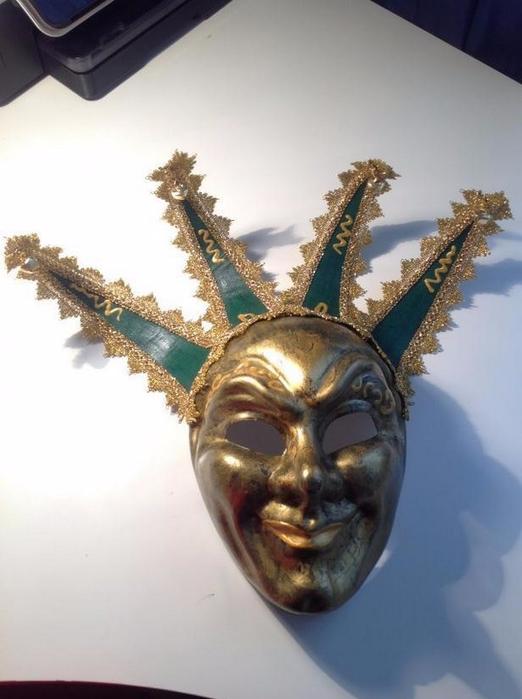 Как сделать карнавальную венецианскую маску Джокер (12) (522x700, 265Kb)