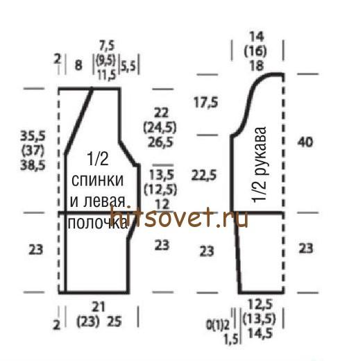 zhaket_na_leto_spicami_vykrojka (500x520, 39Kb)