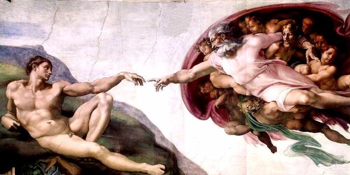 0 Микеланджело. Творение Адама (700x350, 292Kb)