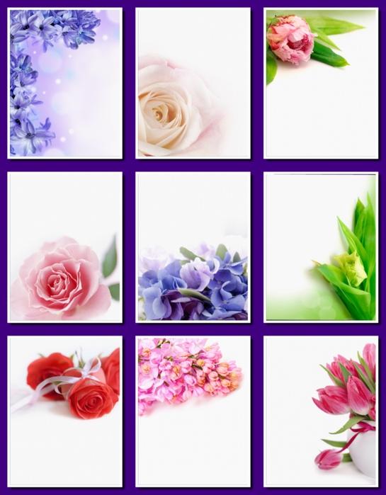 Фоны цветочные для оформления творческих работ, А4. 20  png. Часть 28.