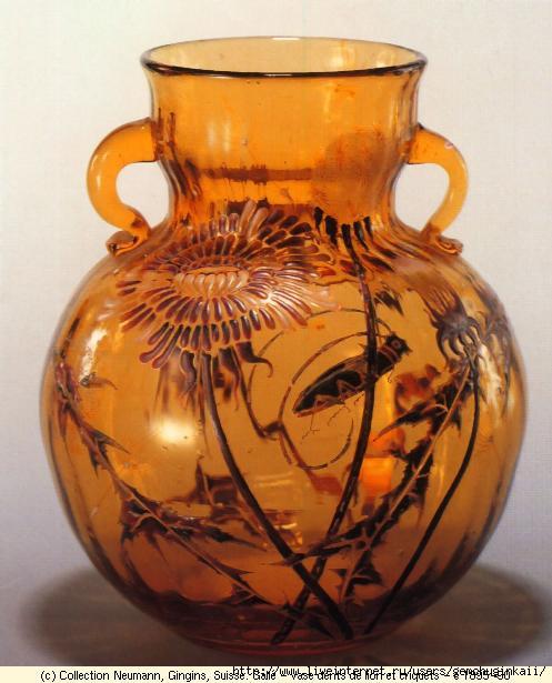 Galle - vase dents de lion et criquets - c 1895-90_l (497x615, 135Kb)