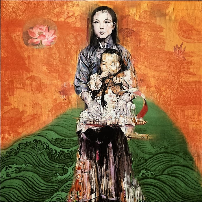 Tide (Mother and Child) , 2010 (699x697, 218Kb)