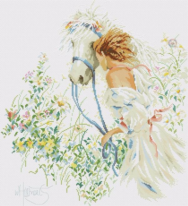 Девушка с лошадью (600x657, 550Kb)