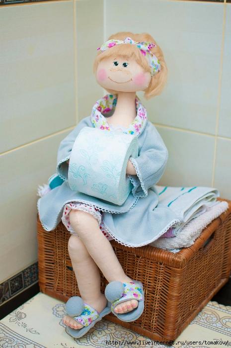 Куклы из туалетной бумаги