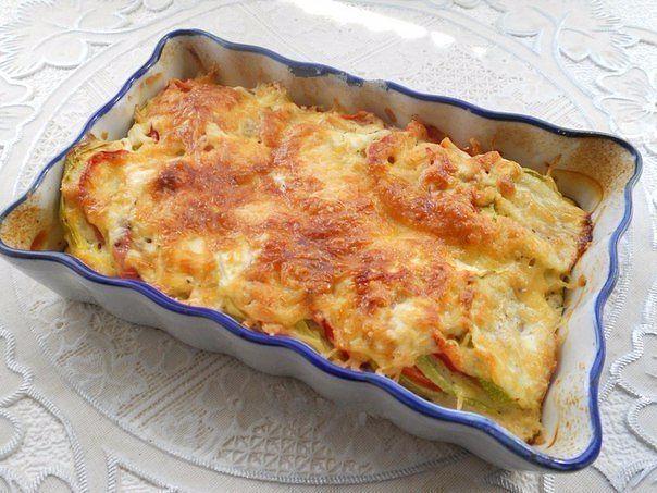 Кабачки, запеченные с помидорами и сыром. (604x453, 293Kb)