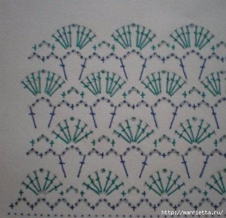 Детские шортики крючком узором гусиные лапки (4) (440x425, 111Kb)