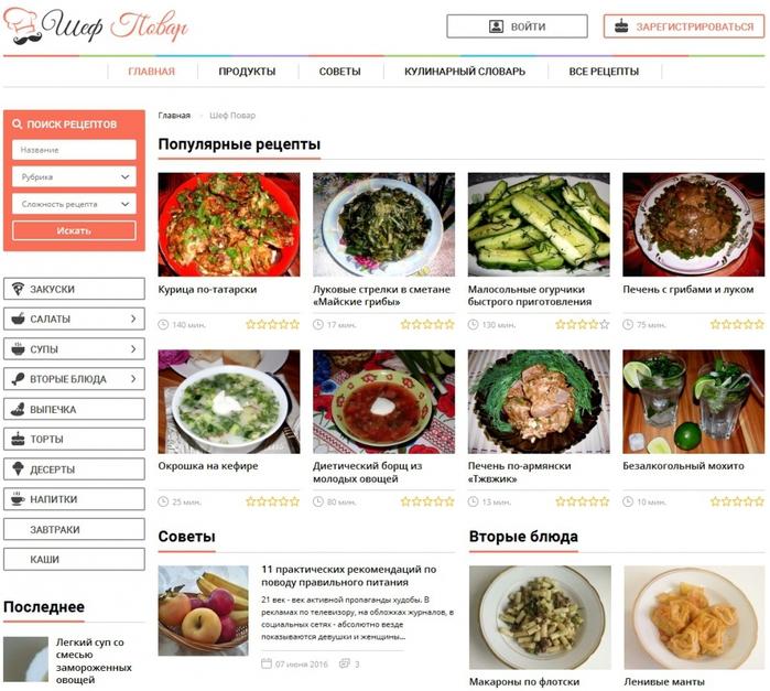Хорошие сайт с и пошаговыми рецептами