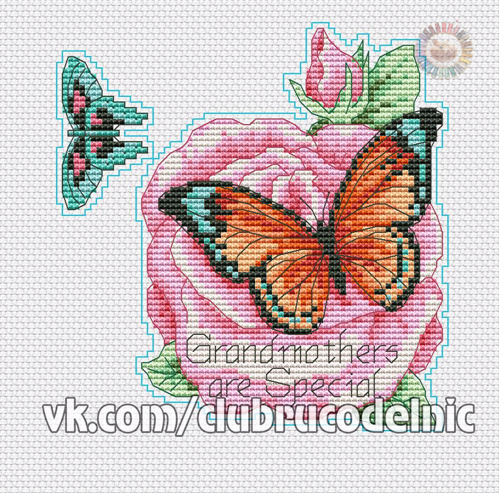 Бабочка 9 (700x692, 783Kb)