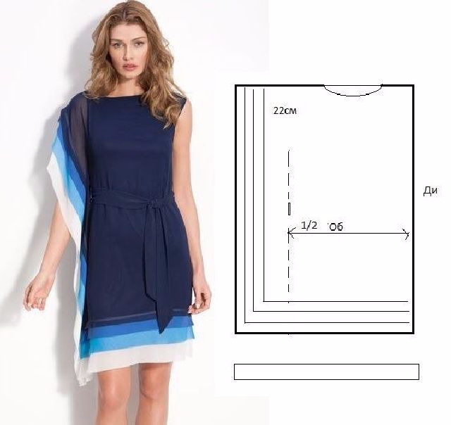Самое простое платье своими руками для полных