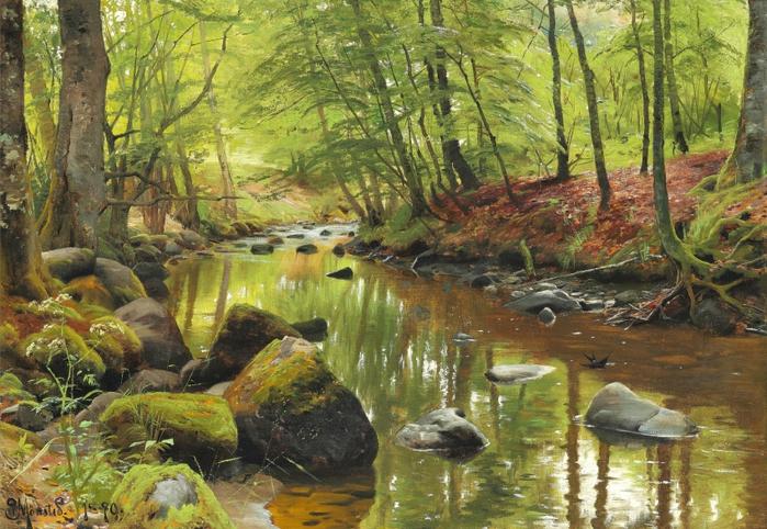 1_1890_�учей в весеннем лесу (A stream in a spring forest)_41 х 57_х.,м._Частное собрание (700x482, 489Kb)