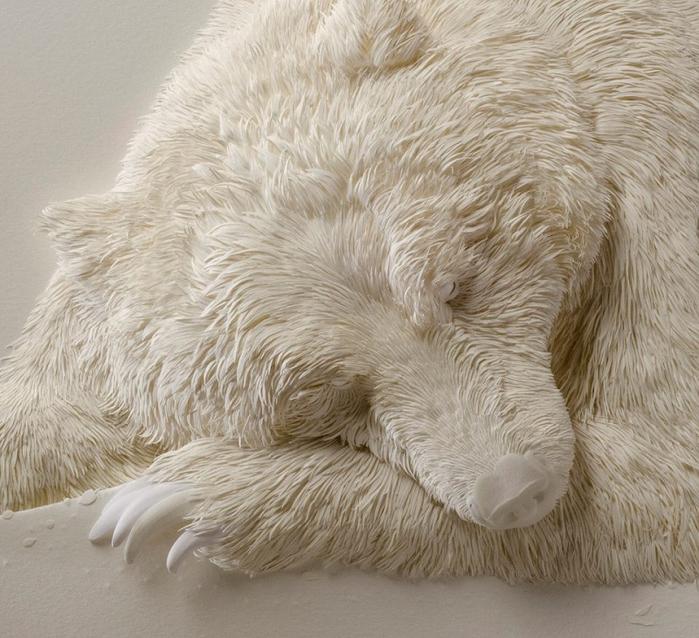 1-Удивительная скульптура из бумаги от Кэлвина Николлса (700x638, 437Kb)
