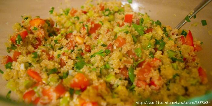 Теплый салат с киноа и и свежими овощами (700x350, 207Kb)