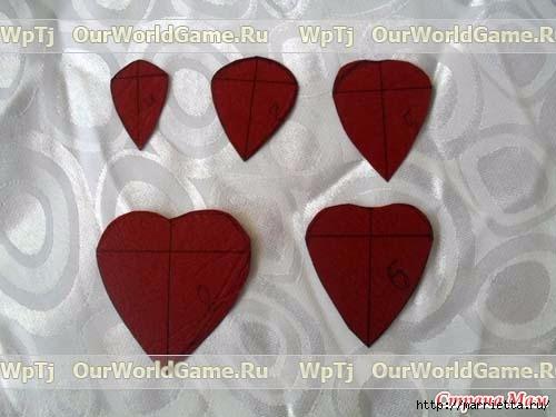 Розы из ткани и свадебная корзинка из картона своими руками (2) (500x375, 94Kb)