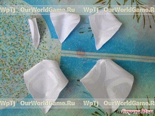 Розы из ткани и свадебная корзинка из картона своими руками (4) (500x375, 116Kb)