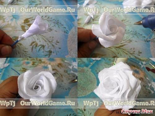 Розы из ткани и свадебная корзинка из картона своими руками (6) (500x375, 110Kb)