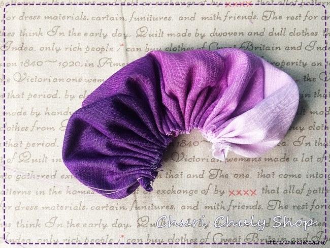 Розы из ткани. Подвеска для брелка своими руками (3) (650x488, 297Kb)