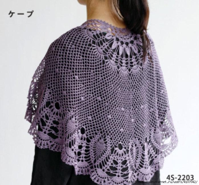 Pretty Semi-circular shawl. ?????????? ?? LiveInternet ...