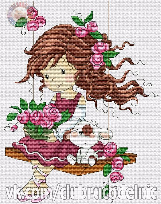 Swings in roses (553x700, 610Kb)