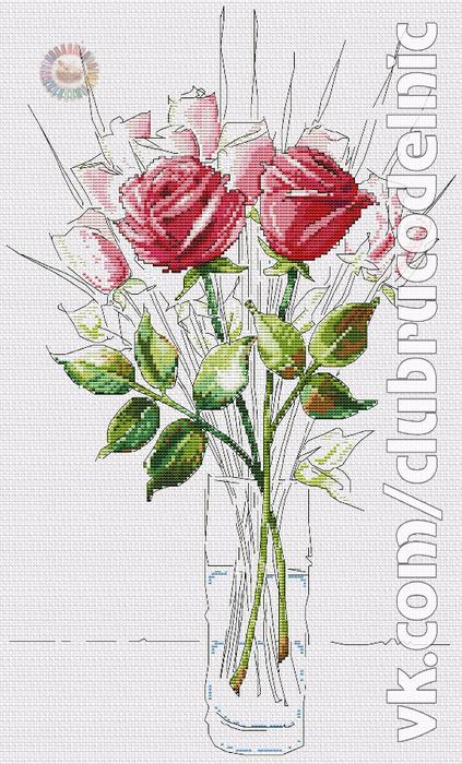Sketchbook roses (423x700, 382Kb)
