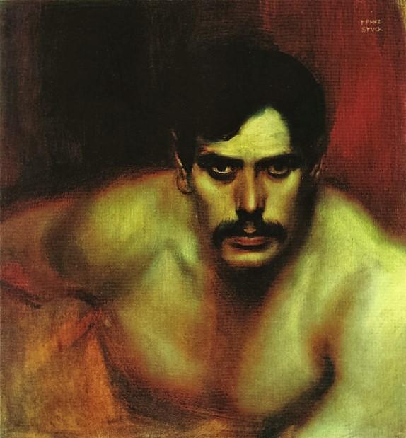 Male Portrait Study (A Bad Conscience)  ок. 1896 (574x619, 108Kb)