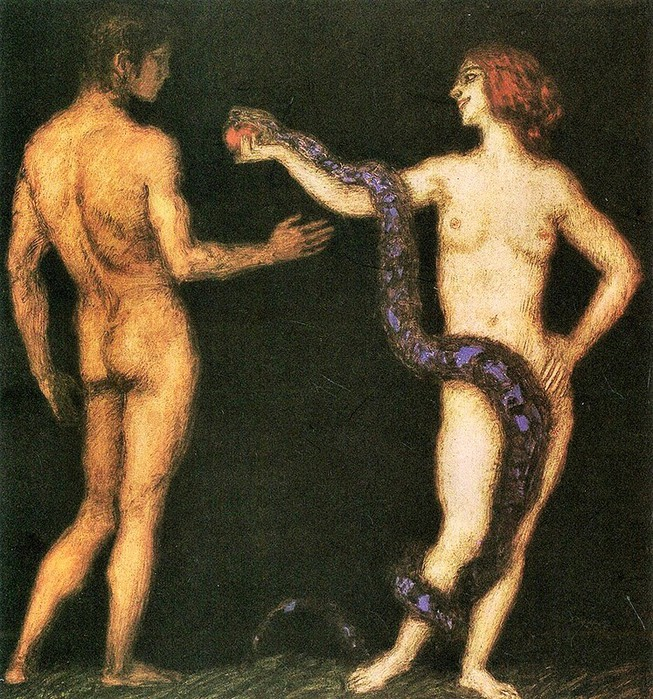 Adam and Eve (Искушение) (653x700, 206Kb)