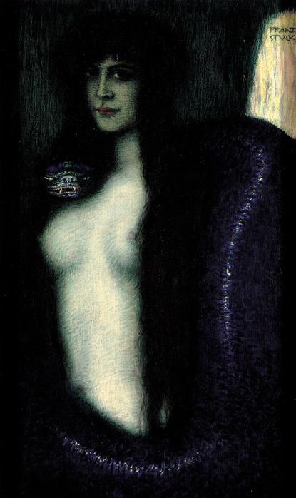 Грех около 1912 - на картине изображена натурщица и первая любовь художника Анна Мария Брандмаер , от которой у автора была дочь Мария Франциска (415x700, 85Kb)