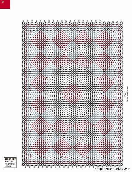 Вязаные крючком коврики на филейной сетке (12) (444x576, 323Kb)