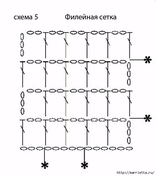 Вязаные крючком коврики на филейной сетке (24) (500x563, 72Kb)