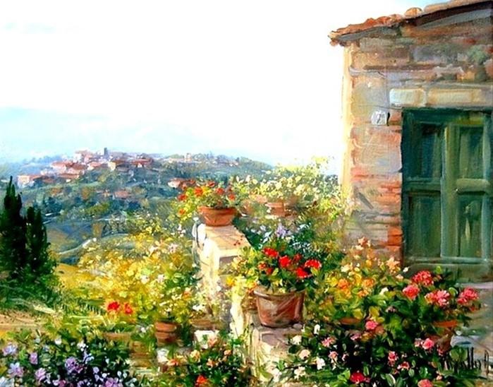 Художница Антоньетта Варалло: уютные старые улочки южной Италии
