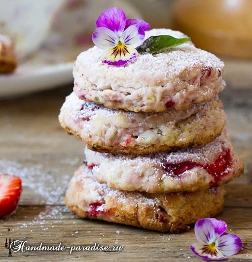 Клубничное печенье с базиликом. Рецепт (511x531, 259Kb)