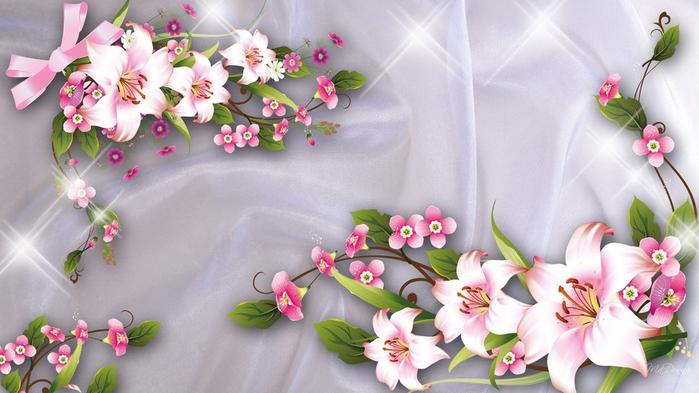 цветы на сером фоне 11 (700x393, 290Kb)