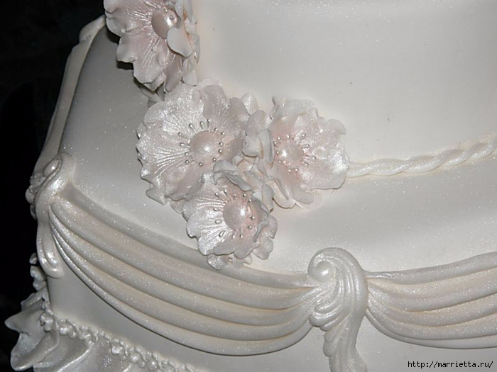 Modelado de masilla de azúcar para las tortas.  flores hermosas.  Clase magistral (13) (700x525, 207KB)