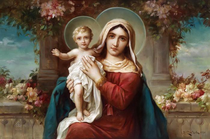 Мадонна с младенцем (700x462, 389Kb)