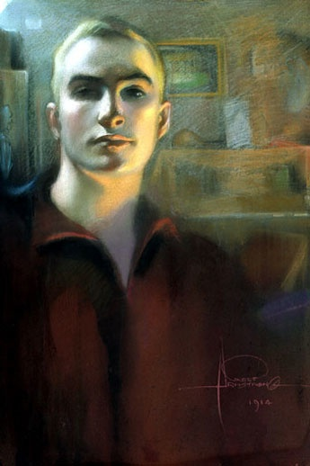 Автопортрет    1914 (345x518, 49Kb)